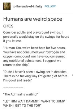 Humans are Weird: swing sets