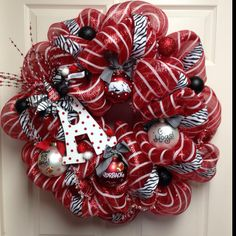 Arkansas Razorback Wreath...Like this!