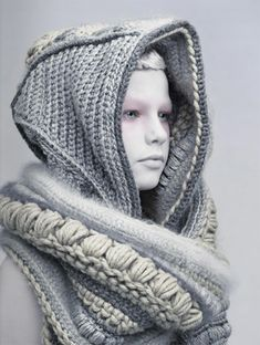 love the texture, the different stitches and yarns, the muted colors...this is really dramatic and terrific Different Stitches, Muted Colors, Crochet Fashion, Yarns, Crochet Ideas, Knit Crochet, Calming Colors, Comfort Colors, Tricot Crochet