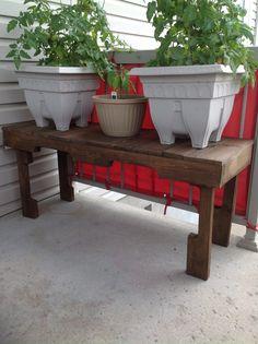 Table console et appuie pied en bois de palette! | Mes créations ...