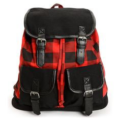 If you've got a new found love for plaid, then the Empyre Girl Serene Buffalo Plaid rucksack backpack is perfect for you and all of your back to school needs.