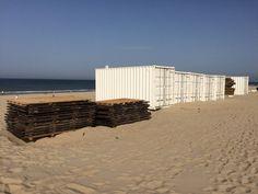 Opbreken strandtenten Savernin Lohmanlaan 16 oktober 2017