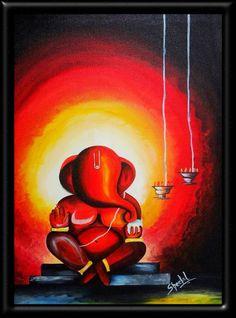 Alfa img - Showing > Ganpati Abstract Paintings
