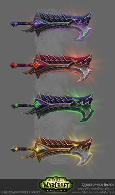 ArtStation - World of Warcraft: Legion Fury Warrior Artifacts , Christopher Hayes