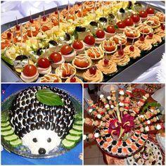 Finger Food Appetizers, Appetizer Recipes, Crudite, Good Food, Yummy Food, Romanian Food, Fancy Desserts, Party Buffet, Bruchetta