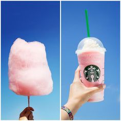 Cotton Candy Frappuccino. Omg so.good! Just order a vanilla bean Frappuccino with a couple squirts of raspberry syrup. :) xx