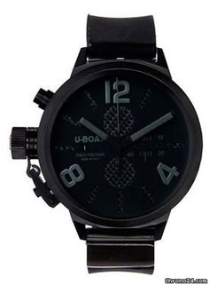 U-Boat U Boat Classico Black Carbon Fiber Dial Chronograph Black Leather Mens Watch 2277 $2,738 #black #trend #leather Black PVD stainless steel case with a black calfskin leather strap