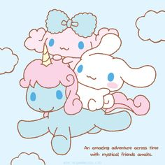#Cinnamoroll ヾ(@⌒ー⌒@)ノ An amazing adventure across time with mystical friends awaits!