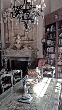 """ French Country interiors are an accumulation of warm and weathered belongings lovingly collected and appreciated for their perfect imperfections. "" Interior design by Leo Dowell Designs. French Country Interiors, French Country Living Room, French Country Cottage, French Country Style, French Farmhouse, Vintage Country, Rustic French, Farmhouse Chic, Rustic Chic"