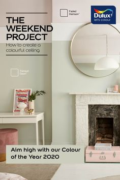 Combine a soft pink with Colour of the Year Tranquil Dawn for a statement living room.