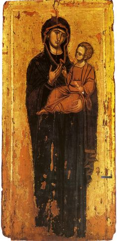 Holy Mother in an icon that looks like Odegetria Religious Images, Religious Icons, Religious Art, Byzantine Icons, Byzantine Art, Holly Pictures, Architecture Art Design, Russian Icons, Religious Paintings