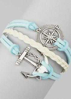 Anchor + Compass Bracelet