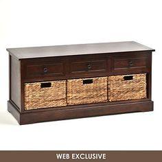 Brown Storage Bench | Kirkland's    Coffee Table