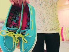 blue shoes lime laces
