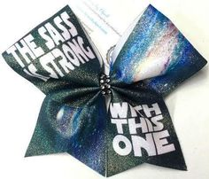 Bows by April - The Sass Is Strong With This One Galaxy Glitter Cheer Bow, $15.00 (http://www.bowsbyapril.com/the-sass-is-strong-with-this-one-galaxy-glitter-cheer-bow/)