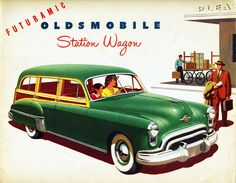 1949 Oldsmobile Station Wagon classic advertising