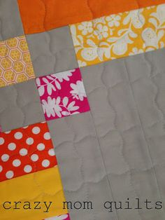 This quilting pattern for Mimi's nine-patch.  Looks easy enough that even I could do it.