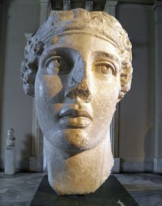 MarbleSmyrna (Izmir)Roman (copy of a type belonging to the Hellenistic period) Head of the poetess Sappho,