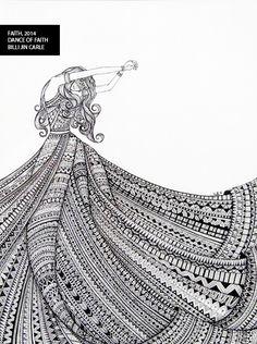 Billijin Carle on Talenthouse Doodle Art Designs, Easy Doodle Art, Doodle Art Drawing, Zentangle Drawings, Mandala Drawing, Girly Drawings, Cool Art Drawings, Pencil Art Drawings, Art Drawings Sketches