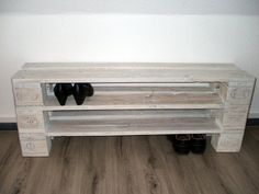 Shoe rack made of pallets *** WUNSCHHÖHE up to XXL 10 floors *** / pallet furniture Indoor Waterfall, Indoor Fountain, Small Modern Home, Diy Garden Decor, 2nd Floor, Pallet Furniture, Plant Decor, Shoe Rack, Plants