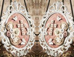Moldura em resina usada para decoração... O Estilo Shabby Chic é usado com muito romantismo e uma pitada Vintage! #ideias #inspiração #vintage #shabbychic #flores #rosas #decore #invente #palaciodaarte  http://goo.gl/sUCsrv