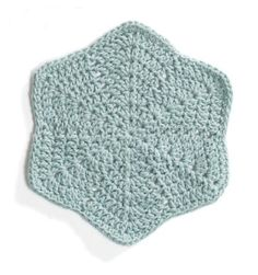 Sylvan Star washcloth, free pattern from Lion Brand Yarn   . . . .   ღTrish W ~ http://www.pinterest.com/trishw/  . . . .   #crochet #hexagon