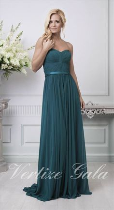 Vestido verde vertize gala