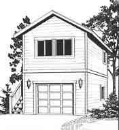 One car garage, 21\'x17\', with potting shed and upstairs apartment ...
