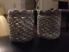 Hæklet omslag til glas