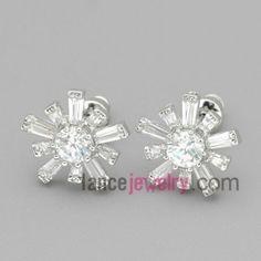 Vivid snowflake studded earrings