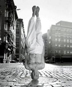 Sri #Dharma Mittra in #Headstand in #NYC