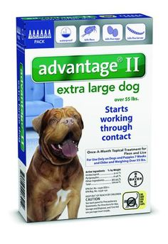 Advantage II for Dogs Over 55 lbs 6 Dose