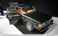 """For Volvo, the main event at the Paris Motor Show this year is all about the launch of the new XC90. However, that's not the entire story of Volvo at the show. As part of the show's traditional historical display, a 1984 Volvo 240 Turbo wagon formerly owned by the president of the Hermés clothing company is part of this year's """"Cars & Fashion"""" collection."""