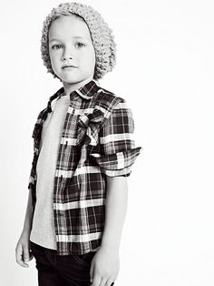 Zara Kids Little Boys Plaid & Cable Knit Beanie Fashion Kids, Little Boy Fashion, Baby Boy Fashion, Toddler Fashion, Zara Kids, Little Man Style, Little Boys, Boys Style, Lil Boy