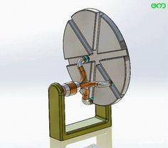 Non traditional rotating gear, Gif Mechanical Engineering Design, Mechanical Design, Automotive Engineering, Electrical Engineering, Metal Workshop, Kinetic Art, 3d Prints, Home Room Design, Alternative Energy