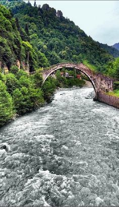 Fırtına River, Rize, Eastern Blacksea Region of Turkey