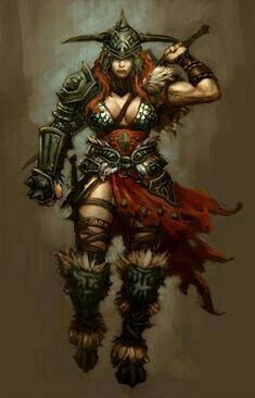 Female Barbarian - Pathfinder PFRPG DND D&D d20 fantasy
