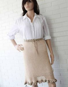 """Original Design By:Anna Tapp Skill Level: Intermediate Size: Small – 28"""" waist Medium – 32"""" waist Large – 36"""" waist All sizes are 22"""" long Note: The directions are written for size small, with changes"""