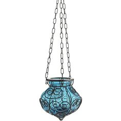 Pier 1 Imports Caged Hanging Lantern - Blue (495 DOP) ❤ liked on Polyvore