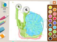 """""""Snail"""" - Julia (age 5). #coloring #pages #memollow #app for #kids"""