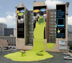20 Most Creative Ads on Buildings...brilliant idea in conception, even more brilliant in implementation.