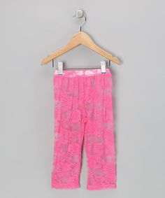 Take a look at this Hot Pink Lace Leggings - Toddler & Girls by So Girly & Twirly on #zulily today!