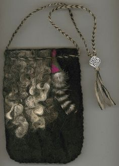 Pazyryk  wet felted bag by ThistleWoolworks on Etsy, $95.00