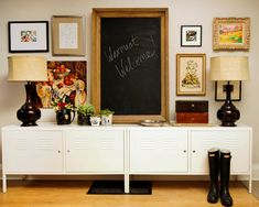 Suzie: Buchman Photo - Kelly Stoneburgh Interiors - Ikea PS Cabinets, glossy black lamps, ...
