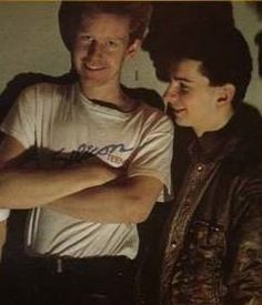 Dave Gahan of Depeche Mode with Fletch
