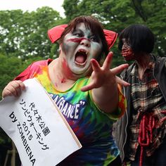 Some photos from the zombie walk in Yoyogi Park today.