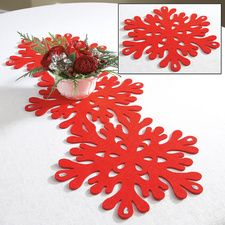 Snowflake Table Runner and Place Mats