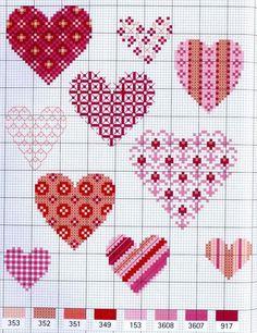 Вышитое сердце ко Дню святого Валентина: варианты схем для вдохновения - Ярмарка Мастеров - ручная работа, handmade