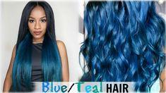 Cexxy Hair Peruvian Body Wave How-To: Aqua Blue/Teal Hair Color│Cexxy Hair (Aliexpress)