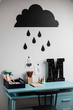 Wallsticker board rain by dekornik.pl on our lovely blog @cogielmogiel.pl